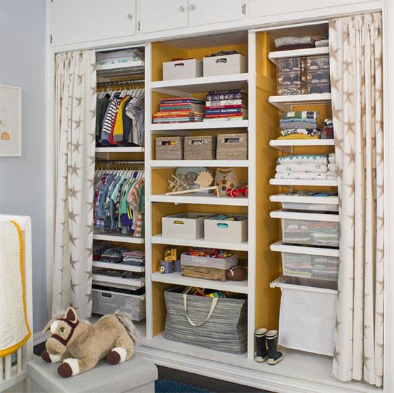 kids closet white elfa décor kidu0027s closet with mesh drawers and laundry hamper ULWEQIL