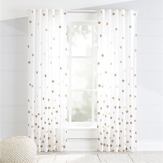 kids curtains bronze polka dot curtains PKFPUSQ