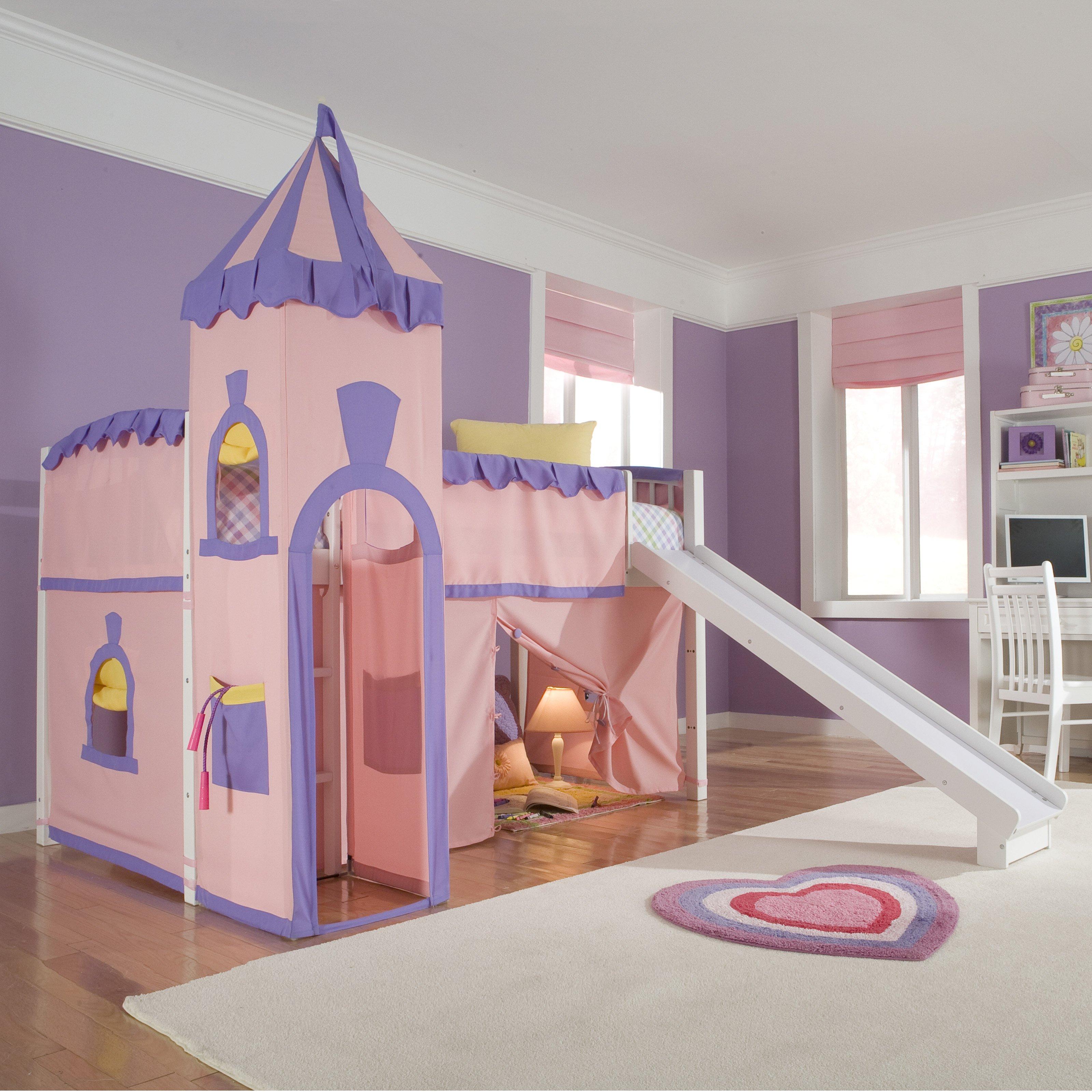 kids loft bed ne kids school house princess loft bed - walmart.com FKEJUDN