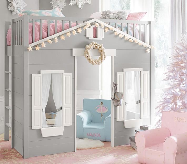 kids loft bed playhouse loft bed | pottery barn kids SYYBYFD
