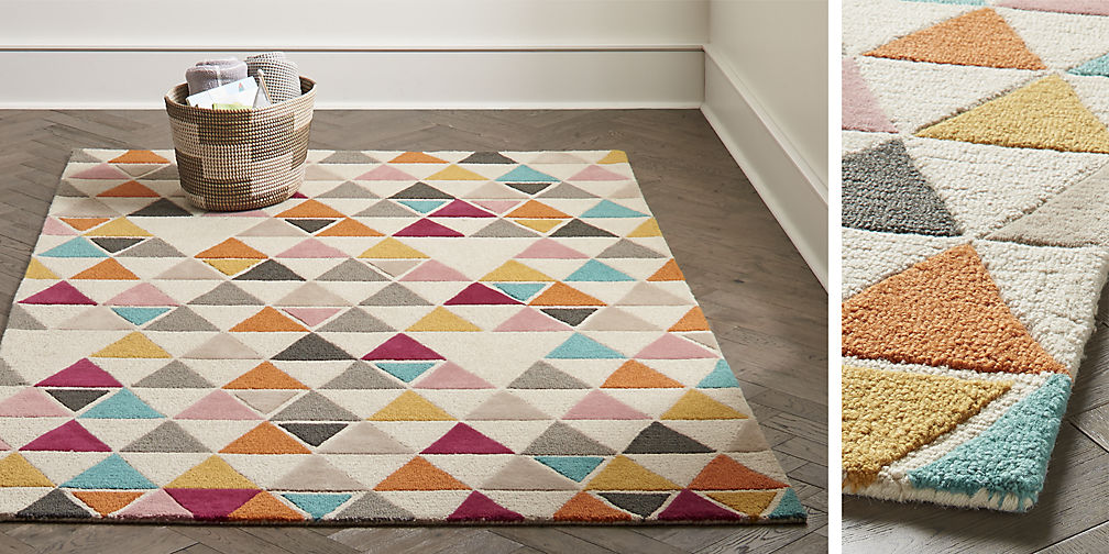 kids rug gallery. triangle rug EHNJFXZ