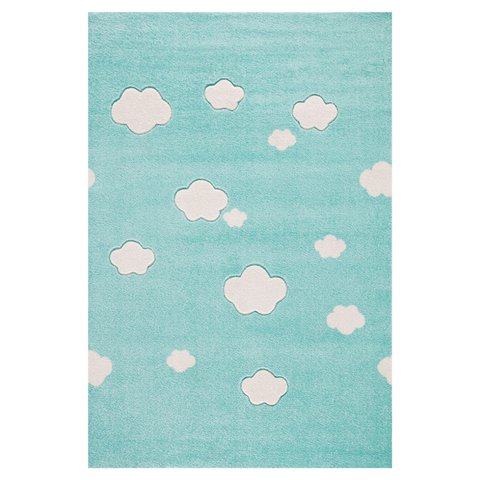 kids rug happy rugs cloud seven mint/creme 160x230cm ... FLDAQZT
