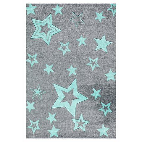 kids rug happy rugs starlight gray/mint 130x190cm ... ZJKWKQO