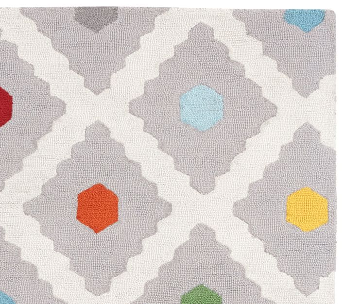 kids rug multi dot rug | pottery barn kids KYNZITP
