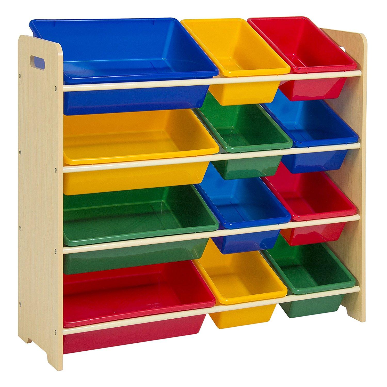 kids toy storage amazon.com: best choice products toy bin organizer kids childrens storage WBNWDAN
