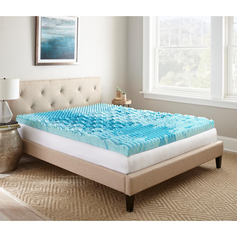 king gellux gel memory foam mattress topper TQXYFHK