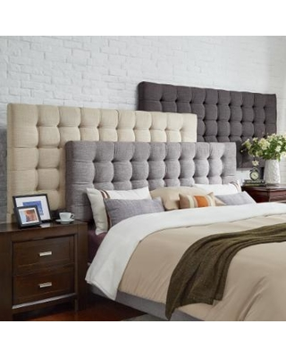 king size headboard briella tufted linen upholstered king-size headboard by inspire q modern ARMWZMW