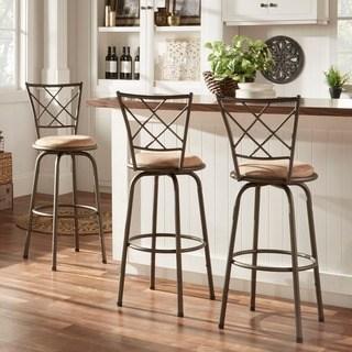 kitchen bar stools avalon quarter cross adjustable swivel high back kitchen stools (set of RQTDEEC