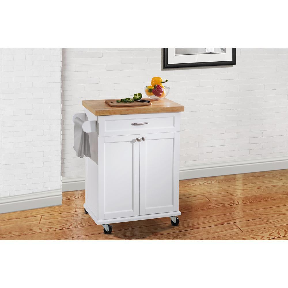 kitchen carts hampton bay ashby white kitchen cart SCAGQLM