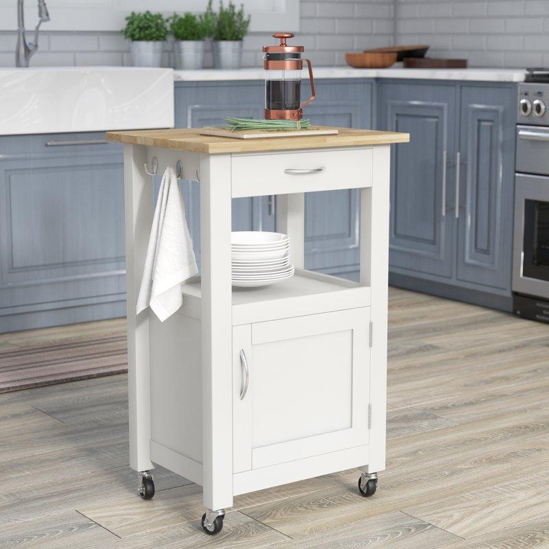 kitchen carts jordan kitchen island cart with natural wood top OQEQXCR