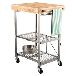 kitchen carts kitchen cart - origami kitchen cart | the container store GMZSMQI