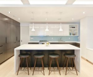 kitchen island with seating ... stylish seating options for modern kitchen islands FATTGSY
