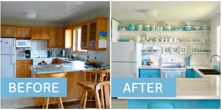 kitchen makeovers - best kitchen transformations EVIXZEU