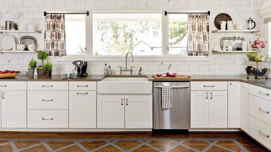 kitchen makeovers thuston painted floor white kitchen makeover FAVREXC