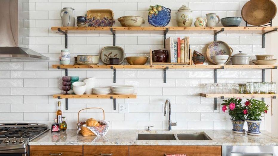 kitchen shelves houzz_shelves1 JSDIRAF