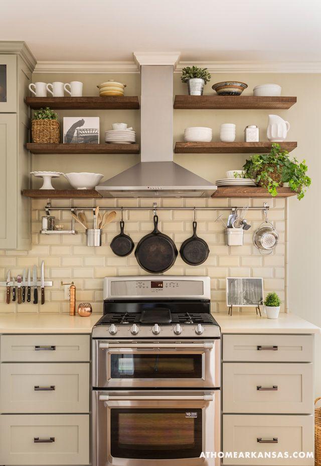 kitchen shelves little rock arkansas home makeover by kathryn lemasters | range hood DBMRBTE