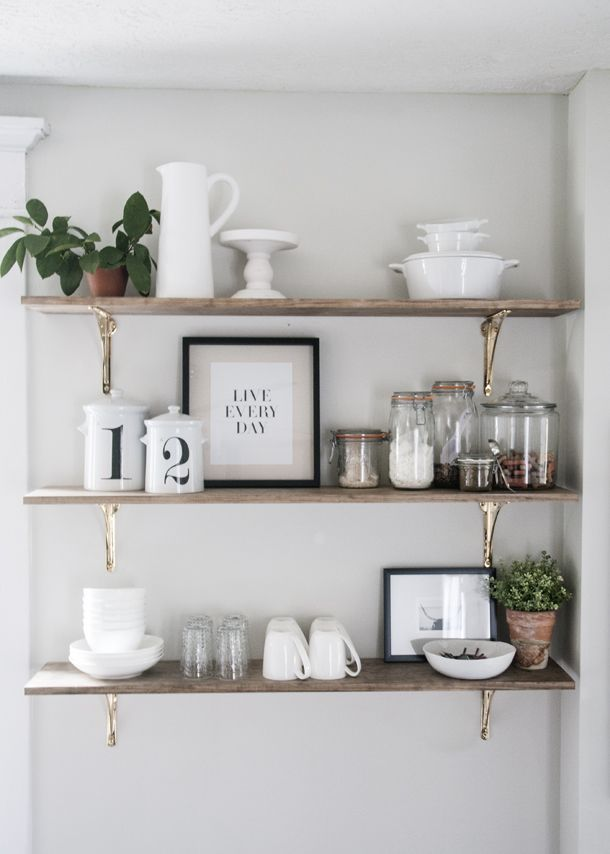kitchen shelves open shelving in the kitchen is one of my favorite trends IOLJVPJ