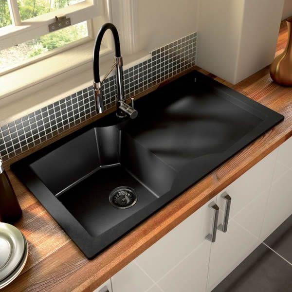 kitchen sinks designs top 15 black kitchen sink designs stainless steel kitchen black kitchen NHYQVWK
