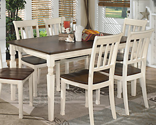 kitchen table and chairs ... large whitesburg dining room table, , rollover TACLIIE