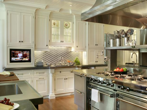 kitchen wall cabinets white transitional chef kitchen with stainless range HDDHAPC