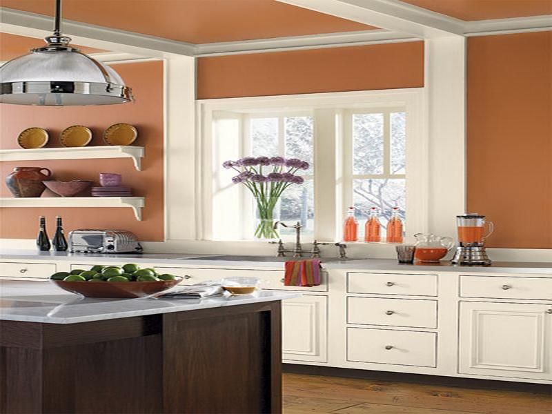 kitchen wall colors ideas nice orange GYVKZYR