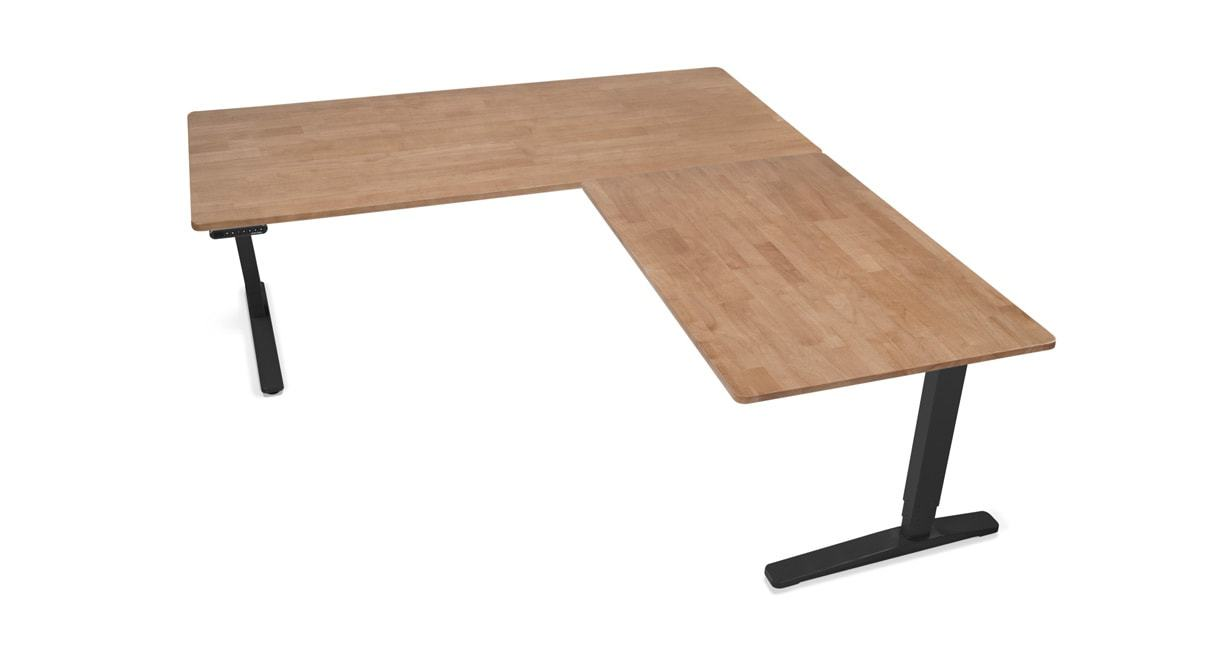 l shaped desk rubberwood desktops go great with any space NBKJSNQ