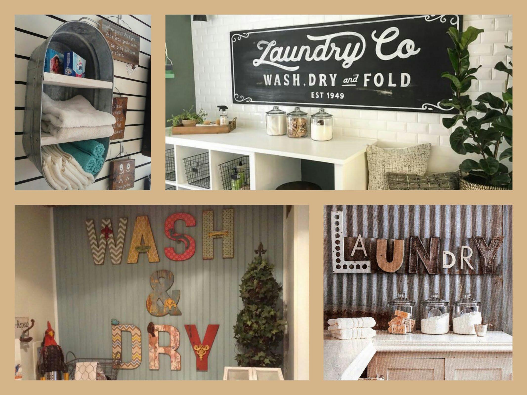 laundry room decor ideas - diy home decorations - youtube XMEXHRE