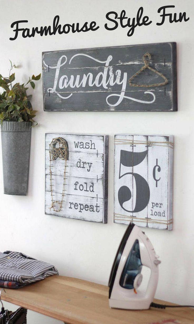 laundry room decor laundry sign set, laundry room décor. | laundry room ideas | RFZPXRS