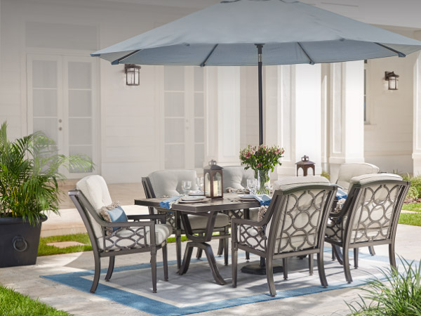 lawn furniture patio dining sets MQHMUAV