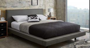 leather beds diaz grey faux leather bed frame | dreams PFSBJZJ
