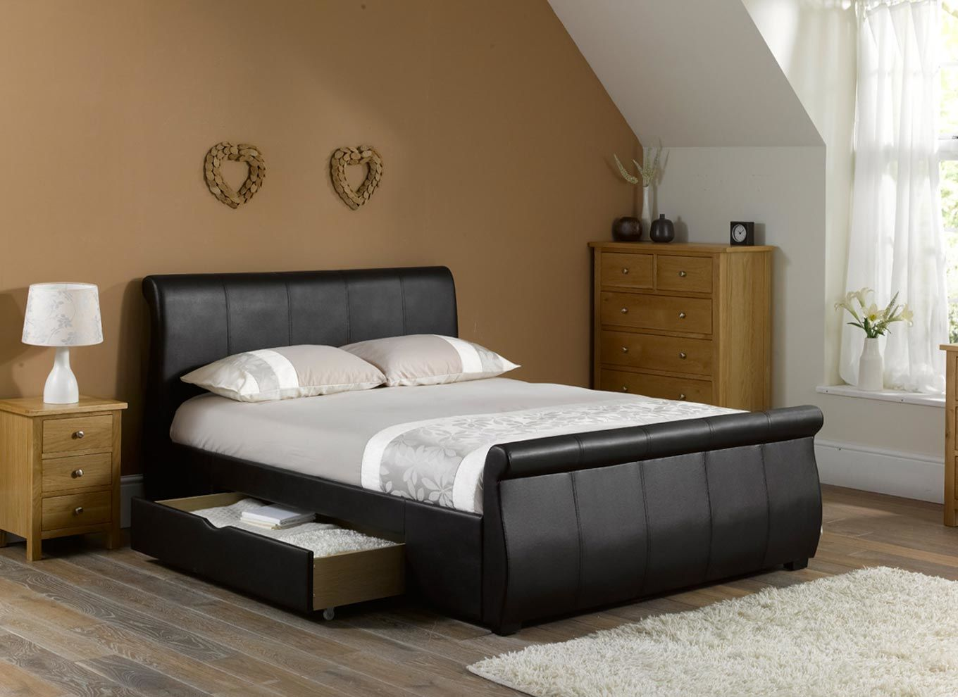 leather beds lucia bed frame | dreams DXWSFSV