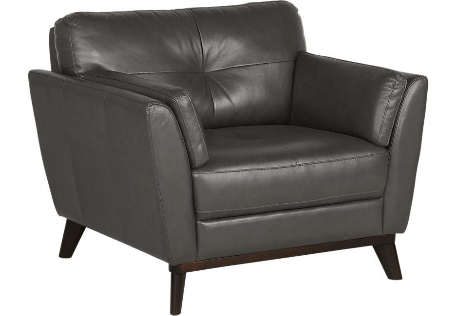leather chairs sofia vergara gabriele gray leather chair LHAHQFO