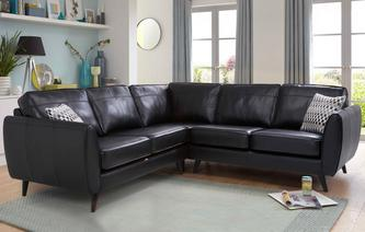 leather corner sofa aurora leather 2+2 corner group brooke OXCVAGZ