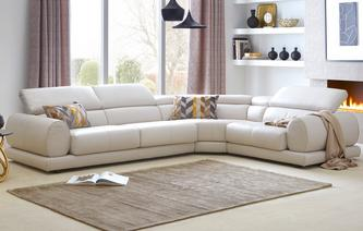 leather corner sofa vittorio option i right hand facing 1 corner 2 sofa new VUYBTJB