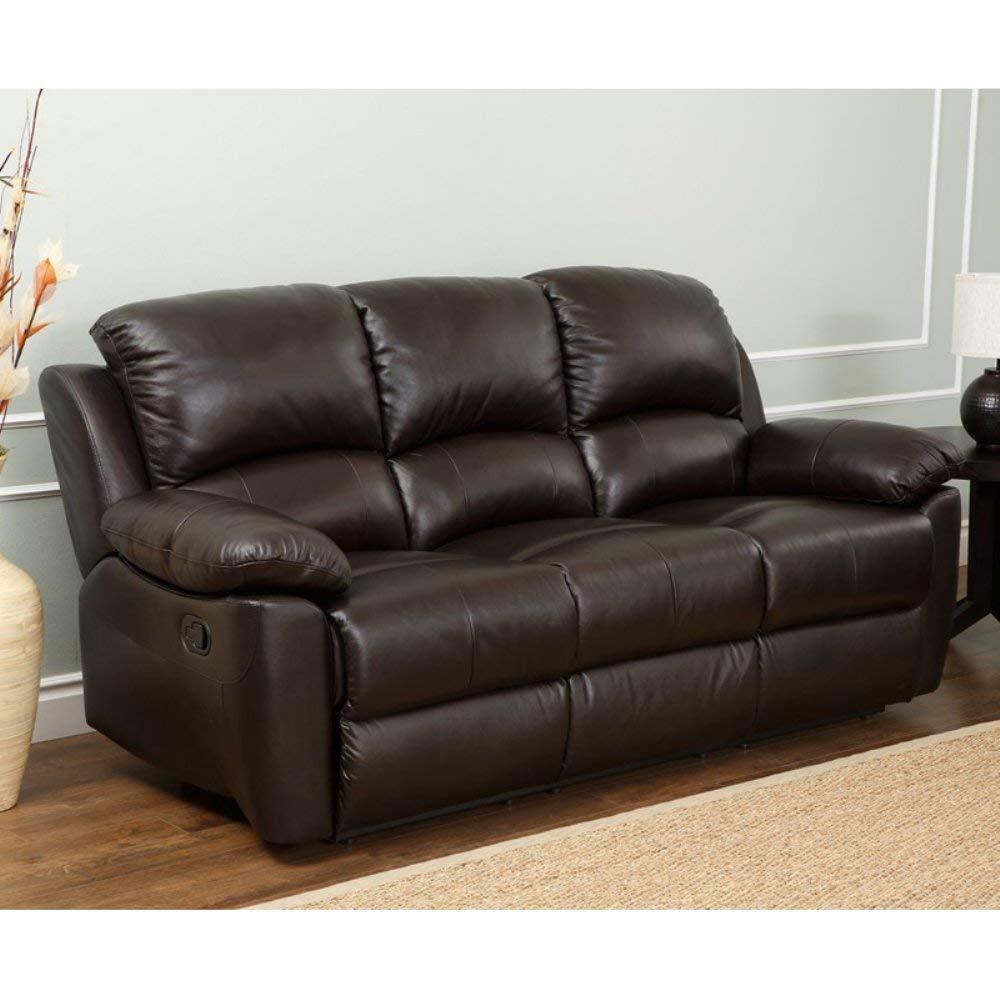 leather recliner sofa amazon.com: abbyson living bella leather reclining sofa in espresso:  kitchen MZHTSFD