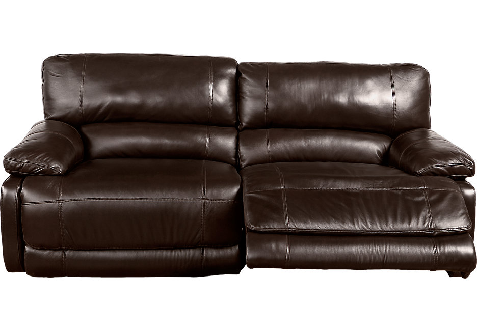 leather recliner sofa cindy crawford home auburn hills brown leather reclining sofa - leather KKZLLMK