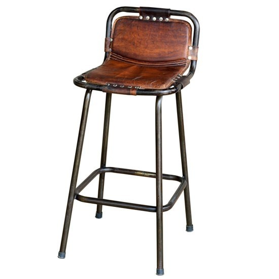 leather rustic bar stools 1 ZHNPJQA