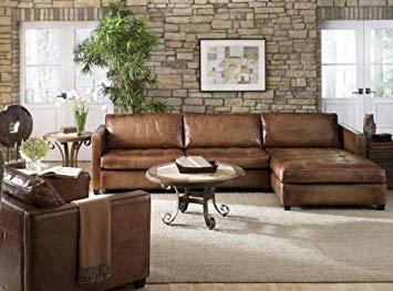 leather sectional sofas amazon.com: phoenix 100% full aniline leather sectional sofa with chaise PKSPDOW