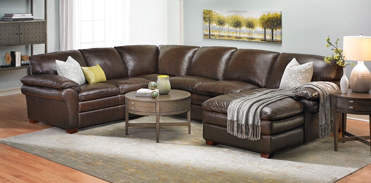 leather sectional sofas home decor picture of winfield leather sectional sofa yjrlory UMSTNAF