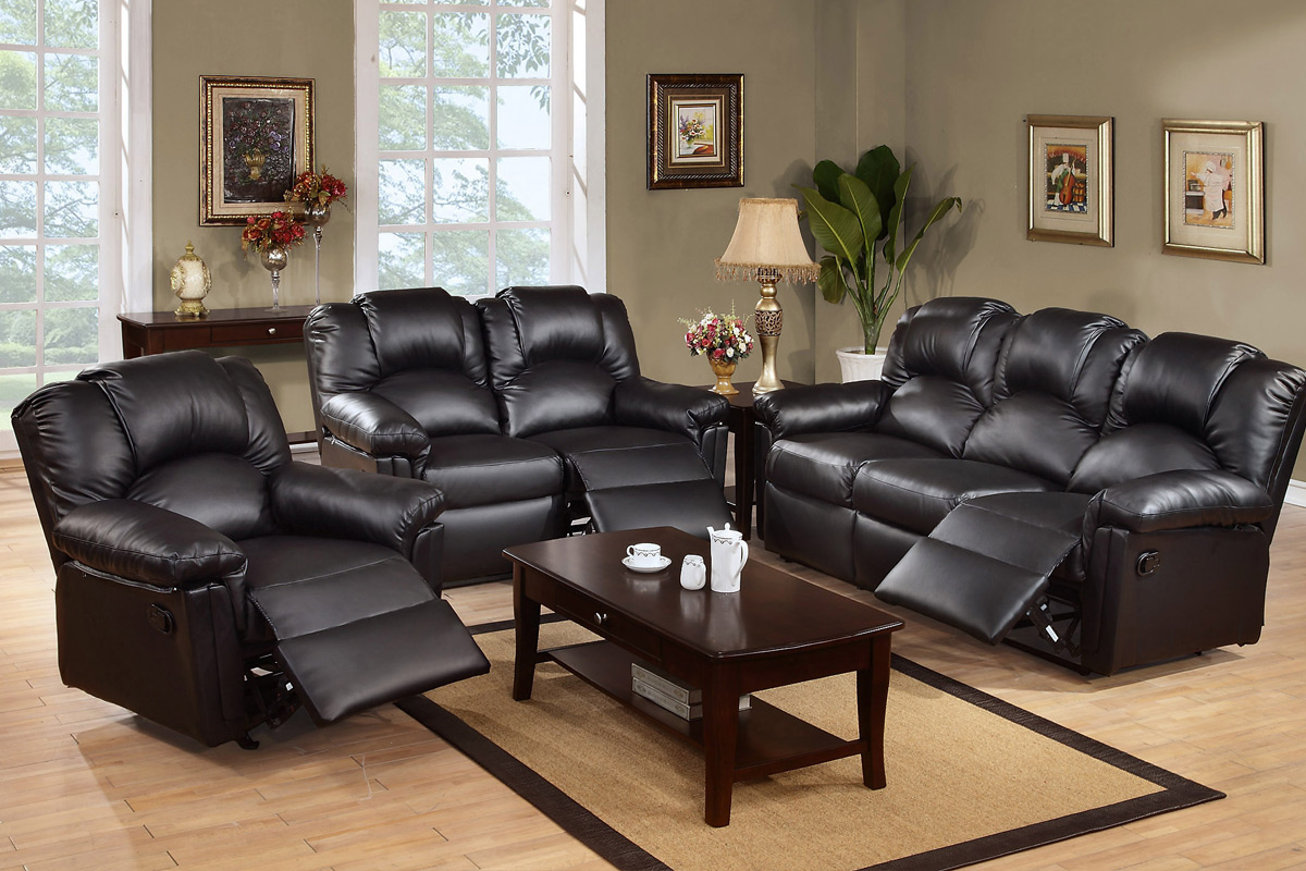 leather sofa set 6672 TNJUCVB