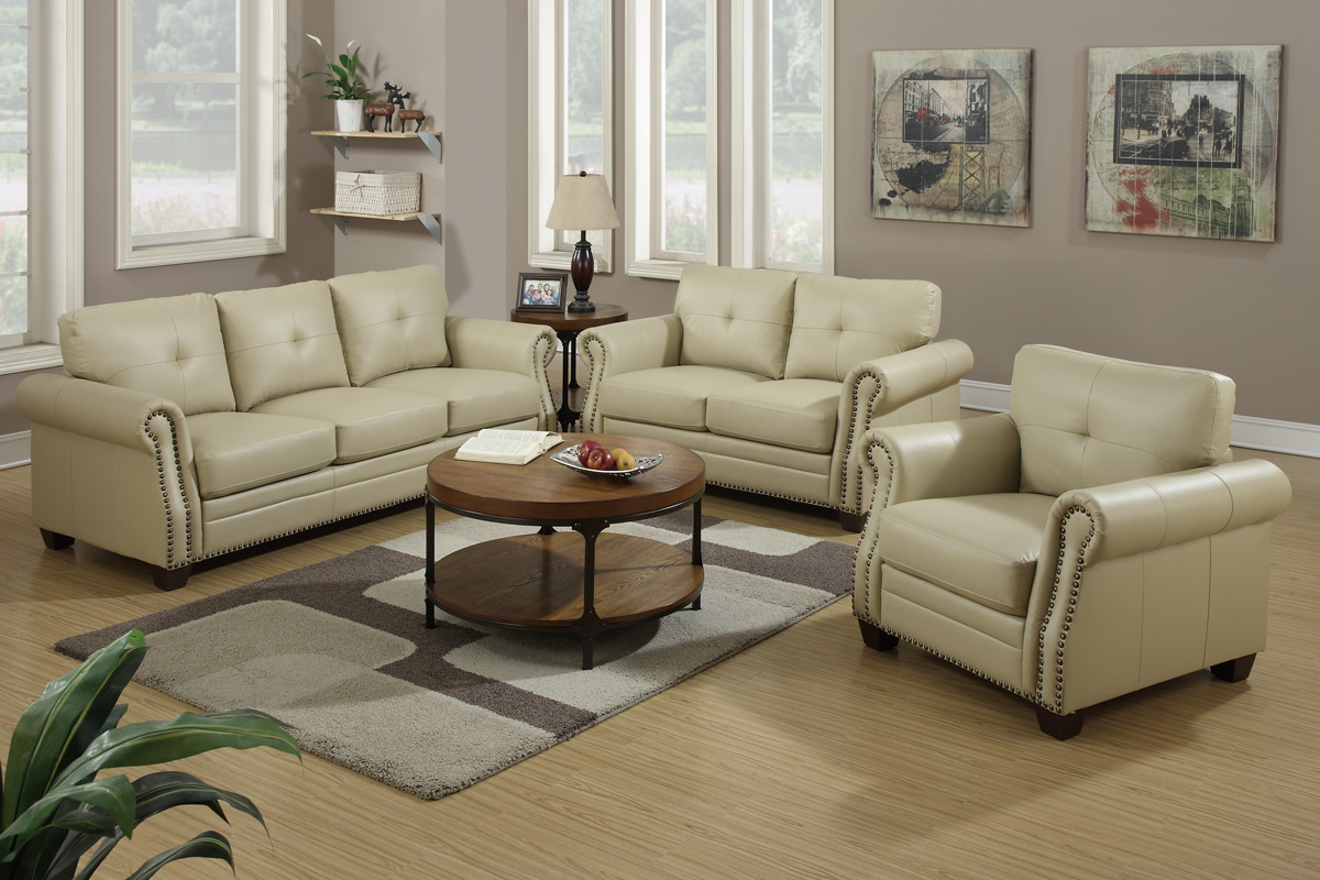leather sofa set beige leather sofa and loveseat set DEAOGVV