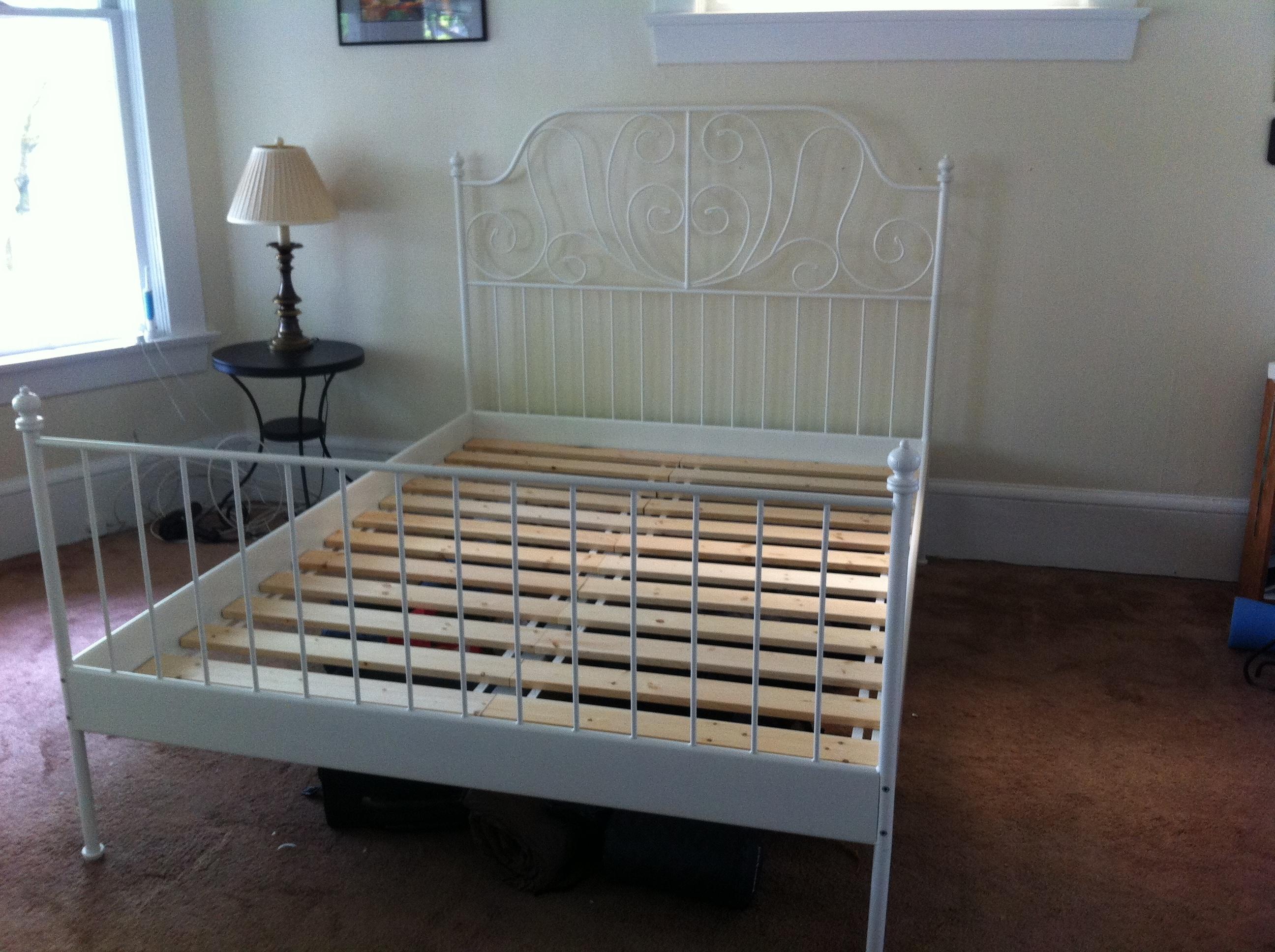 leirvik bed frames ikea leirvik bed frame assembly ZRNMKHM