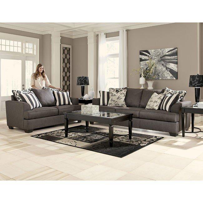 levon charcoal living room set DGANGQG