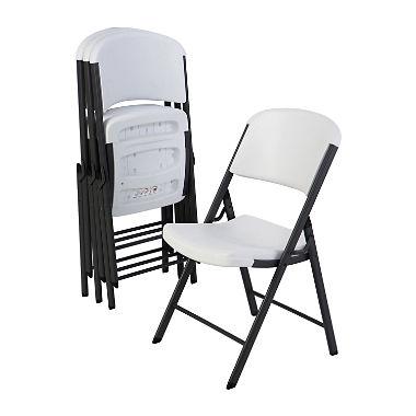 lifetime commercial grade contoured folding chair, 4 pack, choose a color USLZULG