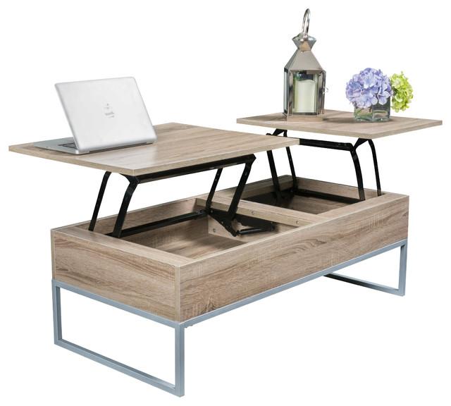 lift top coffee table ditmar coffee table, natural brown BVZAMUG