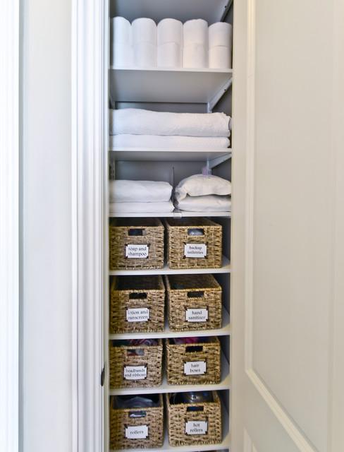 linen closets linen closet storage | organized living freedomrail transitional-closet YIQYZOZ