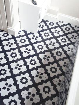 lino flooring tiles zazous £19.99; zazous moroccan tile vinyl flooring KWRLJDO