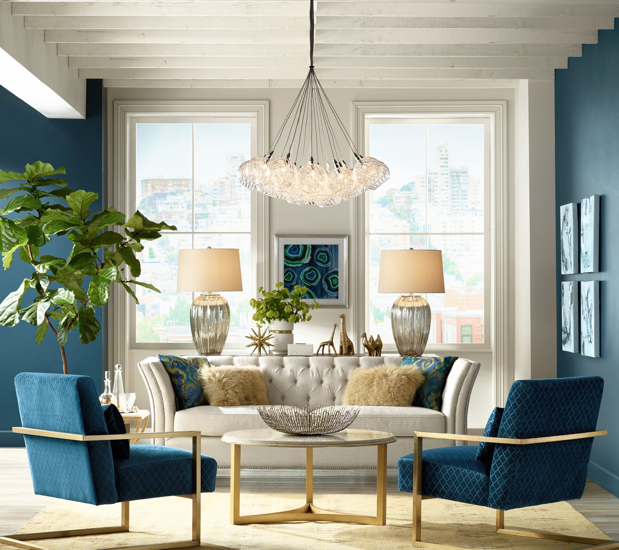 living room lamps make a statement with stunning symmetry. GLTWCPX