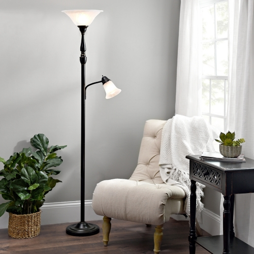 living room lamps single arm reading torchiere | kirklands RTNSJCR