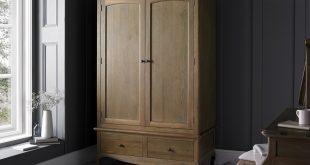 loire weathered oak wardrobe ... MLNKELX